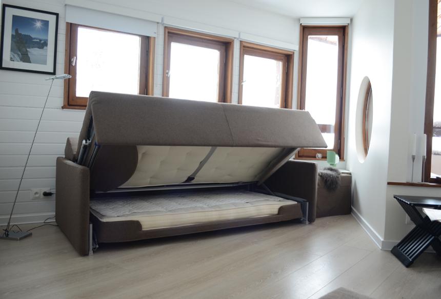 Flip Sofa Bed Latte Wool Feel Poppy